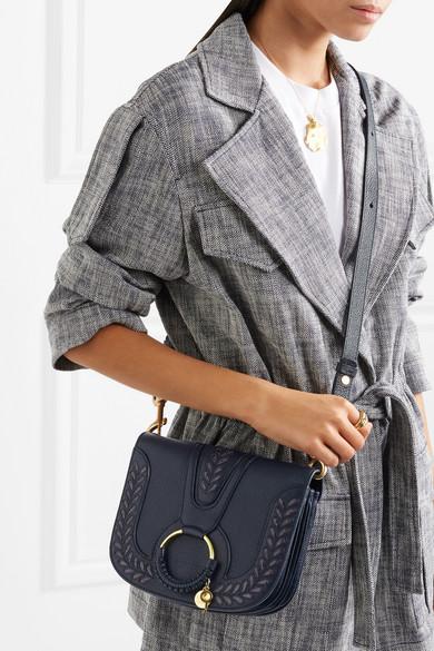 See by Chloé Hana kleine Schultertasche aus strukturiertem Leder