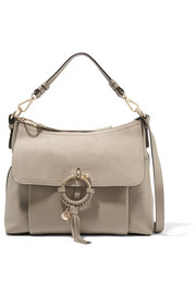 See by Chloé Joan medium suede-paneled textured-leather shoulder bag