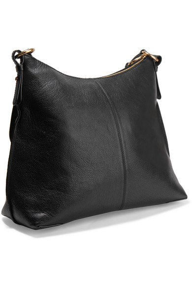 See By Chloé Joan Medium Sized Shoulder Bag Made Of Textured Leather With Suede Leather Trim