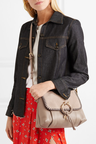 ac460185bc See By Chloé. Joan small whipstitched suede-paneled textured-leather shoulder  bag