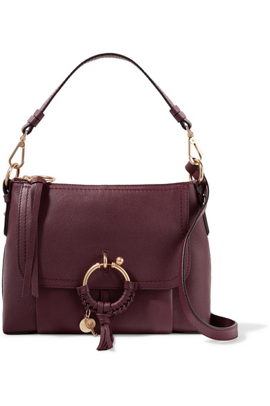 See by Chloé - Joan Small Textured-leather Shoulder Bag - Burgundy
