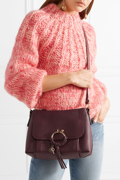 1272898018 See By Chloé. Joan small textured-leather shoulder bag