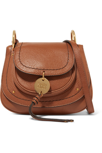 SUSIE SMALL TEXTURED-LEATHER SHOULDER BAG