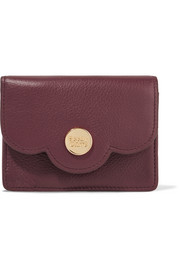 Polina scalloped leather wallet