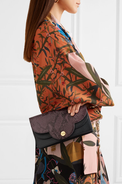 See By Chloé Polina Shoulder Bag Made Of Textured Leather And Leather With Snake Effect