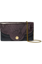See by Chloé Polina snake-effect and textured-leather shoulder bag