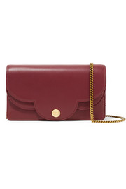 Polina scalloped textured-leather shoulder bag
