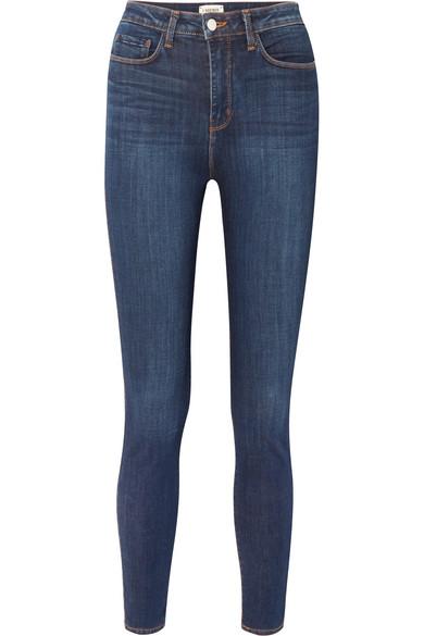 Katrina High-rise Skinny Jeans - Mid denim L'agence 3zsfjx