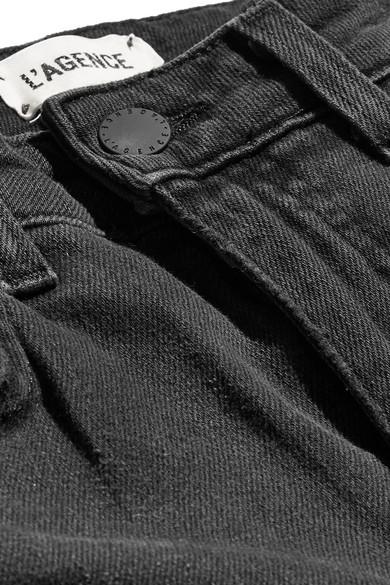 LAgence High Line verkürzte Skinny Jeans in Distressed-Optik