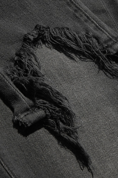 L'Agence High Line verkürzte Skinny Jeans in Distressed-Optik