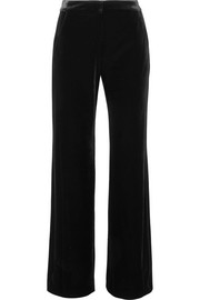 Arlo velvet straight-leg pants