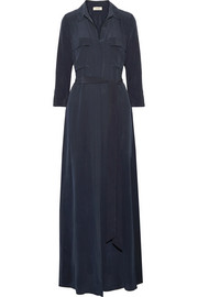 Cameron washed-silk maxi dress