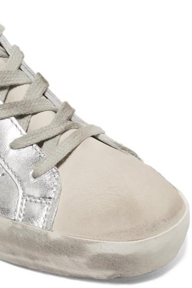 Golden Goose Deluxe Brand Superstar Sneakers aus Metallic-Leder und Veloursleder in Distressed-Optik Amazon Kaufen 7QYBJ7