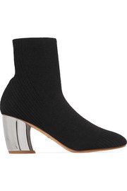 Proenza Schouler Ribbed-knit sock boots