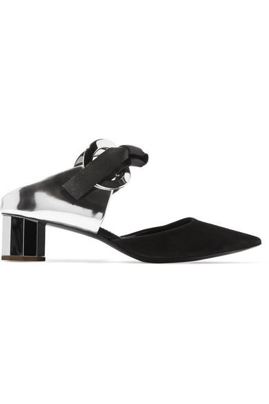 Proenza Schouler | Veloursleder Mules aus Leder und Veloursleder | mit Ösendetails 93f68d