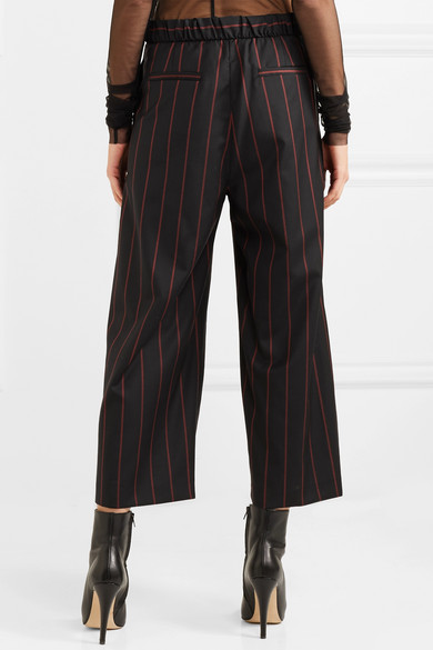 Versus Versace Verkürzte Hose aus Wolle mit Streifen