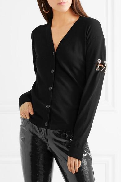 Versus Versace Cardigan aus Stretch-Strick mit Verzierungen Günstige Preise Billig Bestseller Billigpreisnachlass Authentisch Freies Verschiffen Austrittsstellen vJyS9B