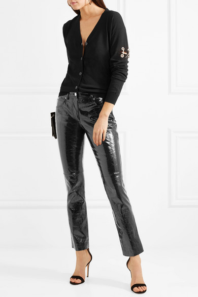 Versus Versace Cardigan aus Stretch-Strick mit Verzierungen