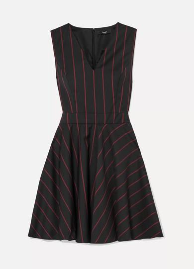 Versus Versace Minikleid aus Wolle mit Streifen