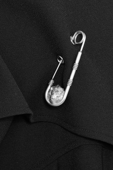 Versus Versace Verziertes Oberteil aus Crêpe mit Falten