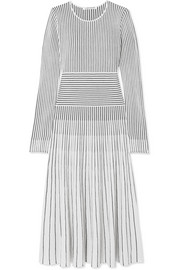 Sheridan striped merino wool-blend midi dress