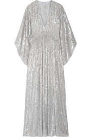 Elizabeth and James Raquel metallic fil coupé silk-blend maxi dress