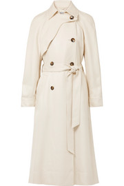 Dakotah frayed woven trench coat