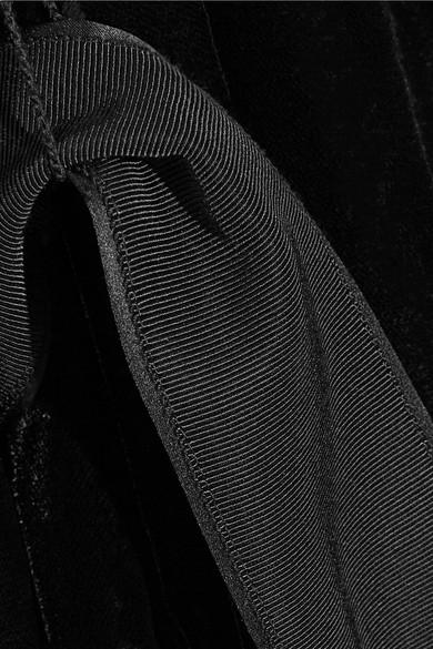 Elizabeth and James Mitzi Oversized-Jacke aus Samt mit Gürtel aus Seidensatin