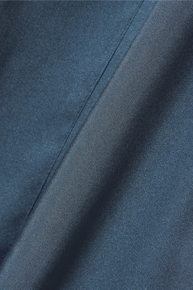 Elizabeth and James Minnie schulterfreies Oberteil aus glänzendem Twill mit Twist-Detail