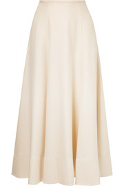 Elizabeth and James Elias pleated woven midi skirt