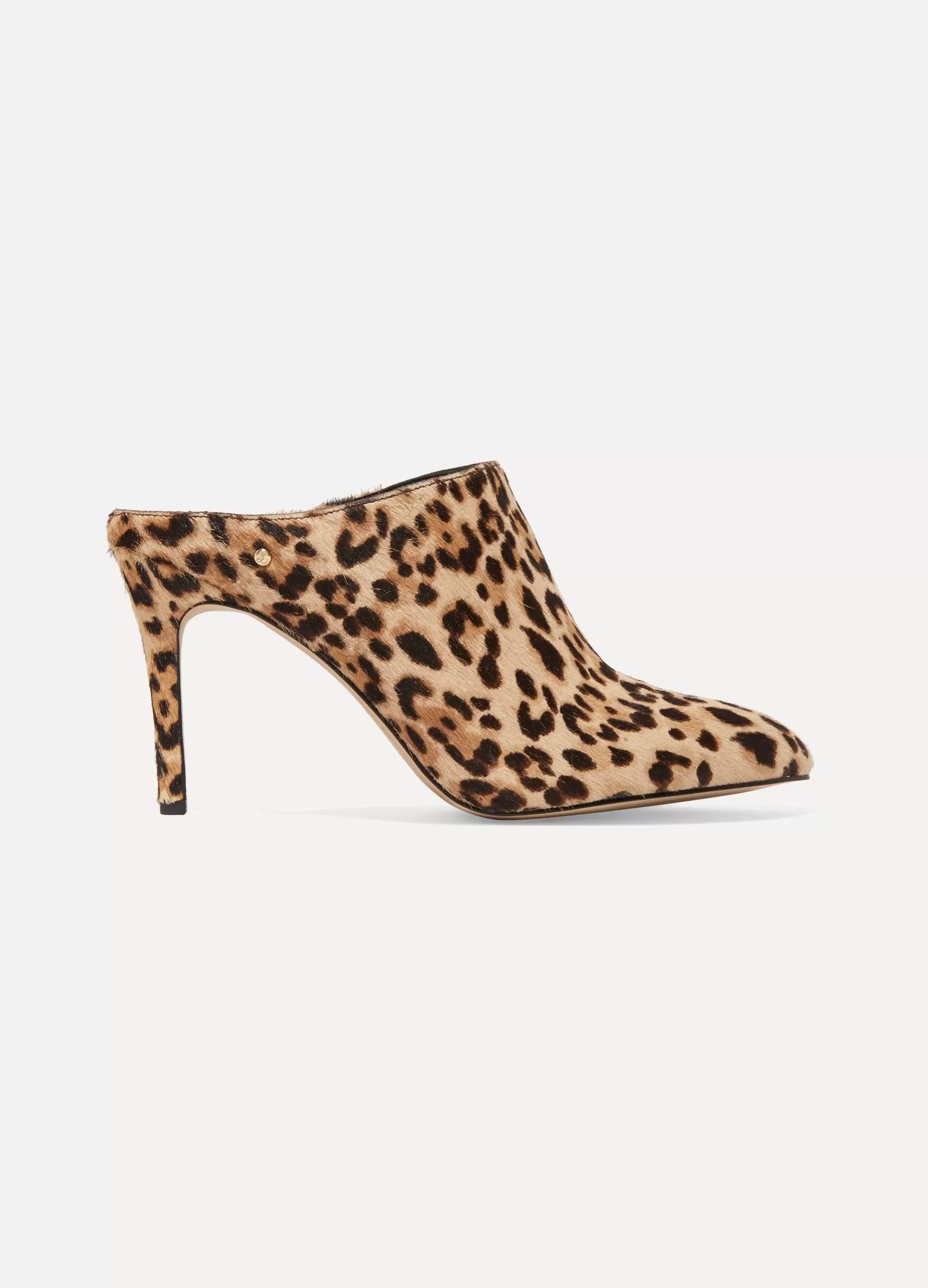 Sam Edelman Oran leopard-print calf hair mules