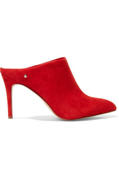 Oran Suede High Slide Mule, Candy Red