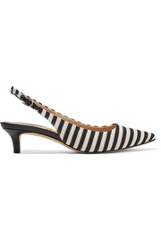 Ludlow striped woven canvas pumps