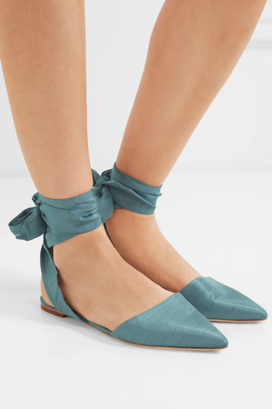 Sam Edelman Brandie Flat Shoes From Dupionseide With Pointed Cap