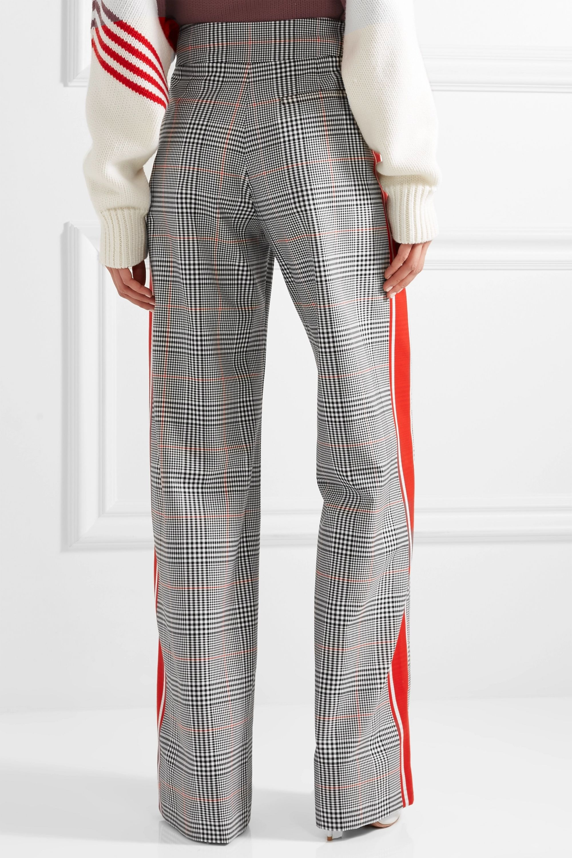 Monse Striped Prince of Wales checked woven wide-leg pants