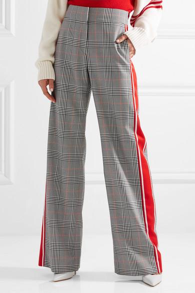 Günstig Kaufen Vorbestellung Monse Gestreifte Hose mit weitem Bein und Glencheck-Muster Einkaufen G2Q2HGFy