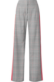 Monse Striped Prince of Wales checked woven wide-leg pants