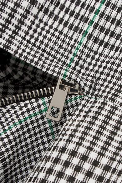 Monse Gewebtes Midikleid mit Cut-outs, Glencheck-Muster und Streifen