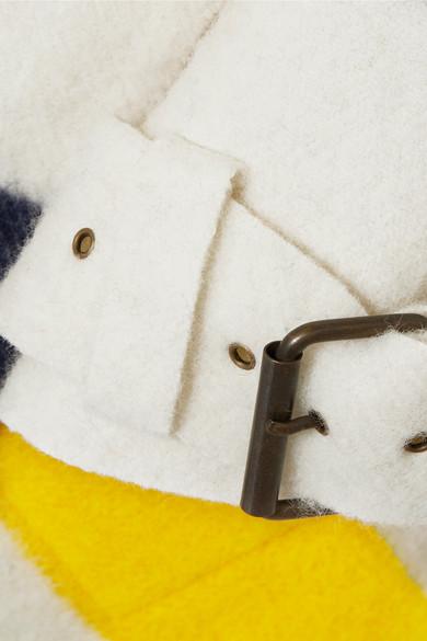 Monse Hudson's Bay gestreifter Mantel aus Wollfilz