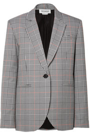 Monse Oversized embellished Prince of Wales checked woven blazer