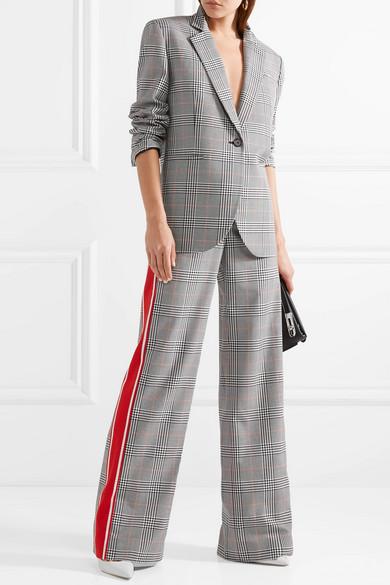Monse Verzierter Oversized-Blazer mit Glencheck-Muster