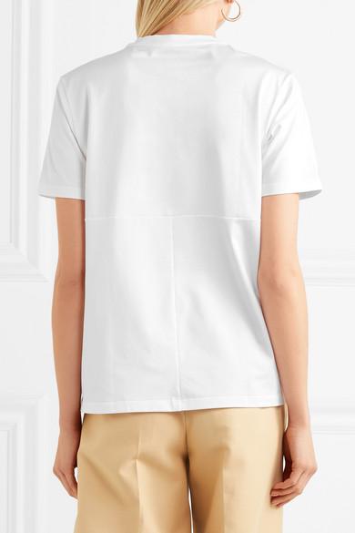 Jil Sander T-Shirt aus Stretch-Baumwoll-Jersey