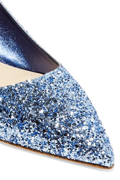 Niedriger Preis Zu Verkaufen Miu Miu Pumps aus Leder mit Glitter-Finish und Slingback-Riemen aus Satin Billig Billig sqovhb