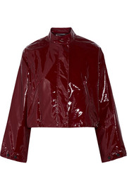 3.1 Phillip Lim Cropped vinyl jacket