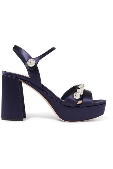 Nouvelle Arrivée À La Vente Jeu Meilleur Endroit Miu Miucrystal embellished sandals HCBYmJCW