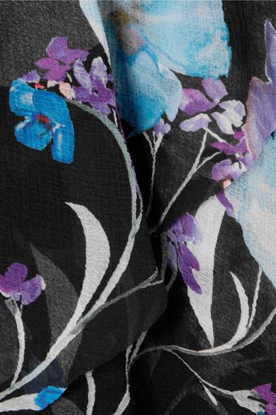 3.1 Phillip Lim Gestuftes Maxikleid aus Seidenkrepon mit floralem Print