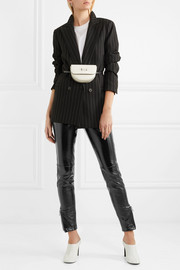 3.1 Phillip Lim Patent textured-leather skinny pants