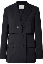 3.1 Phillip Lim Oversized layered pinstriped twill blazer
