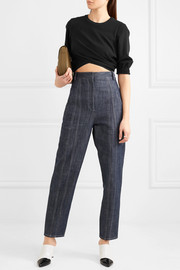 3.1 Phillip Lim Cropped twist-front stretch-jersey top