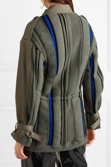 3.1 Phillip Lim Jacke aus Strick und Canvas aus einer Baumwollmischung
